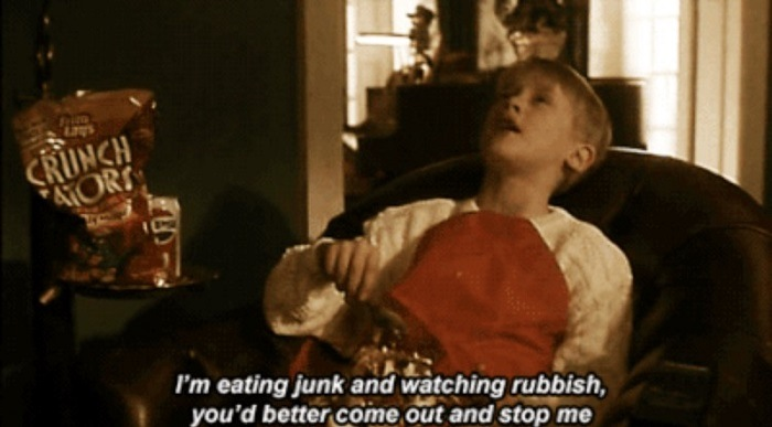 Eating Junk And Watching Rubbish