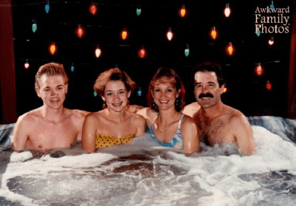 Entire Family Baths Together
