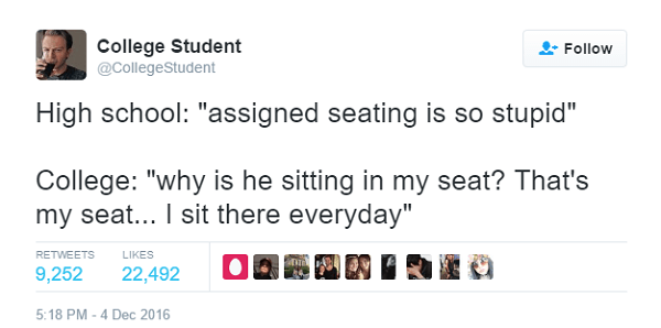 Everyone Has A Favorite Seat