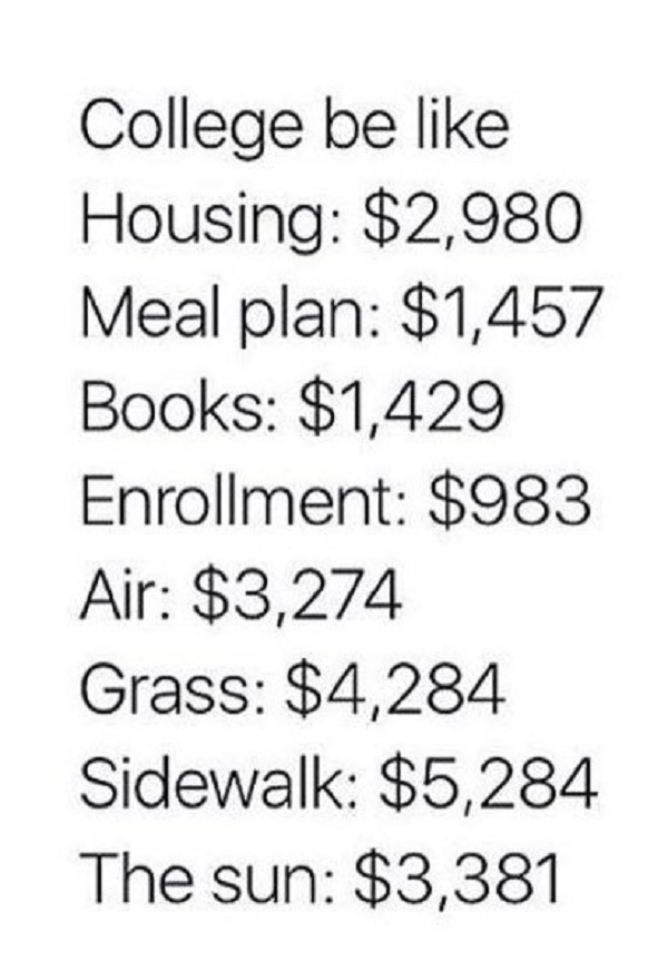 Expensive College Life