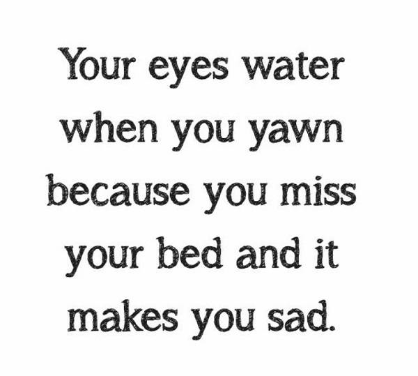 Eyes Water When You Yawn
