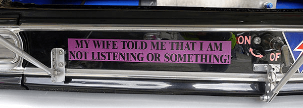 Funny Bumper Sticker About Wife