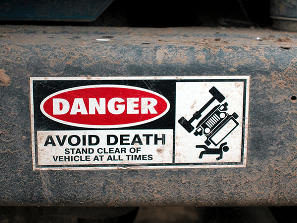 Funny Bumper Sticker For Staying Alive