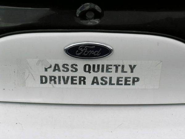 Funny Bumper Sticker On Car