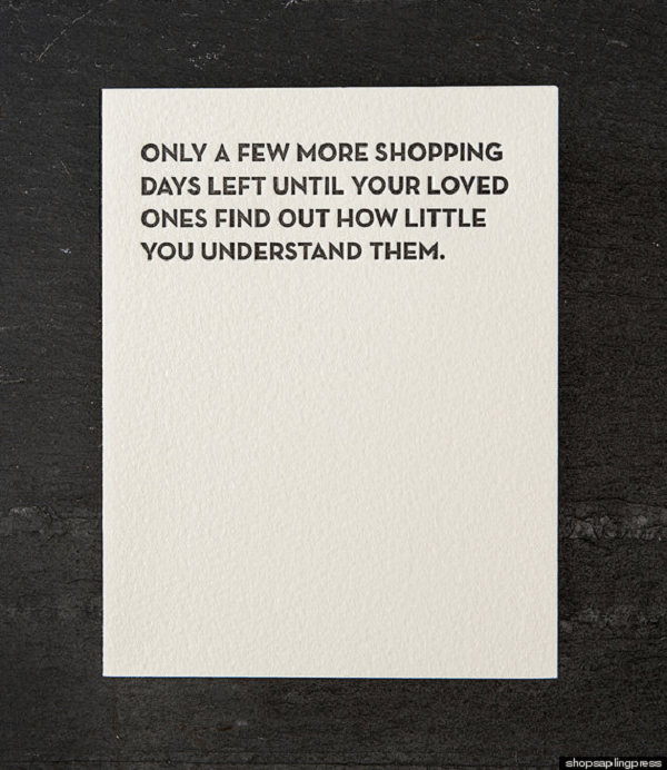 Funny Christmas Card For Loved Ones