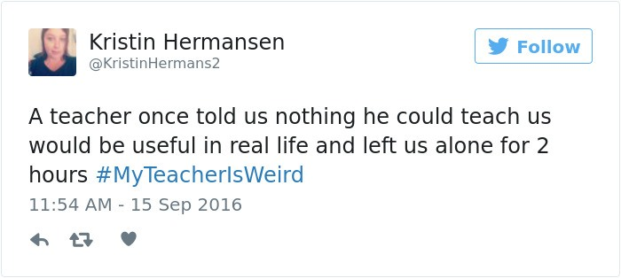 Give This Teacher Some Award