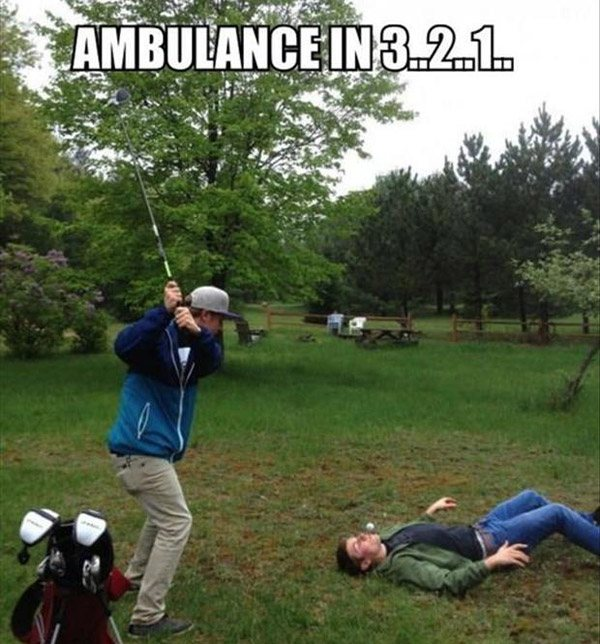 Golf Swing Bad Idea