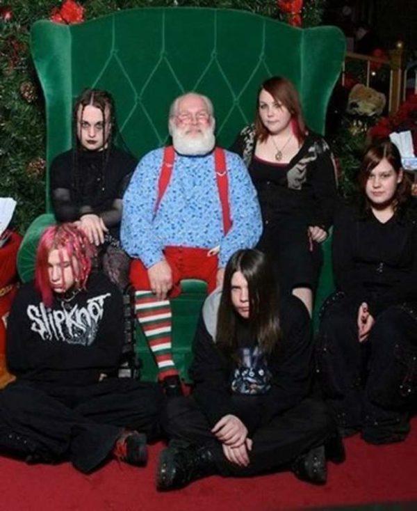 Goth Santa WTF Family Photos