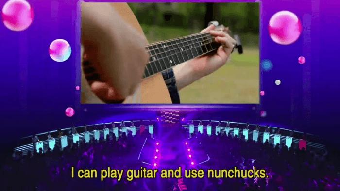 Guitar And Nunchucks