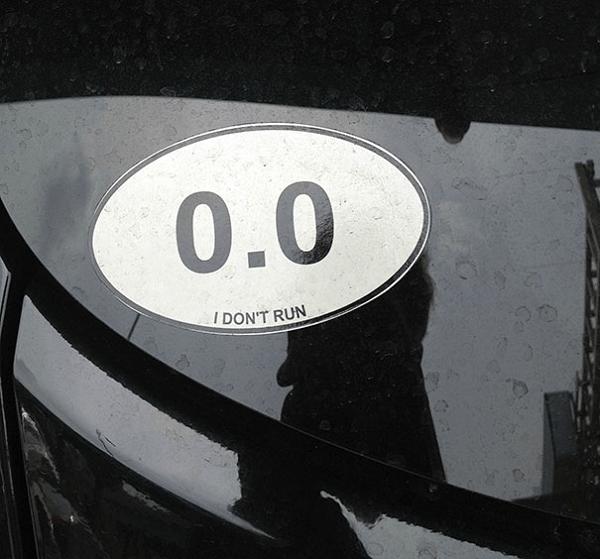 Humrous Sticker On Car