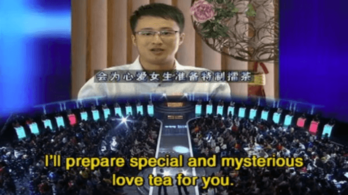 Dating show in china