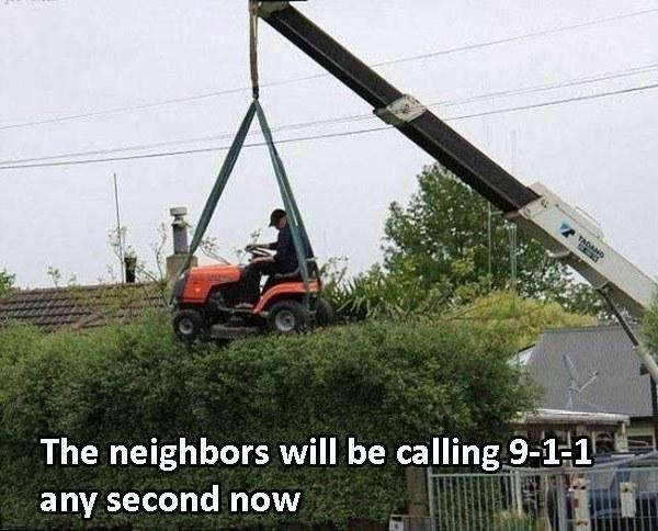 Mowing Crane