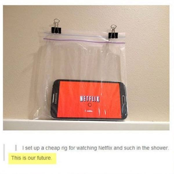 Netflix In The Shower