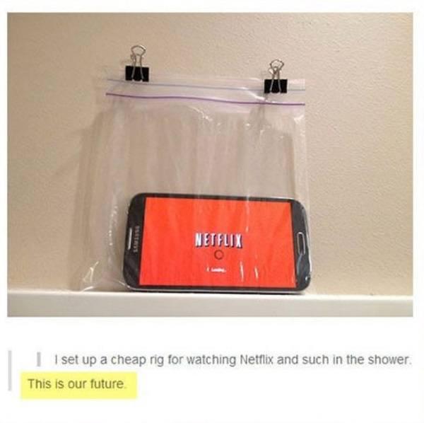 Netflix In The Shower