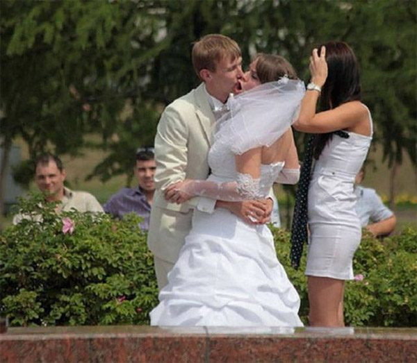 Reluctant Bride Kiss