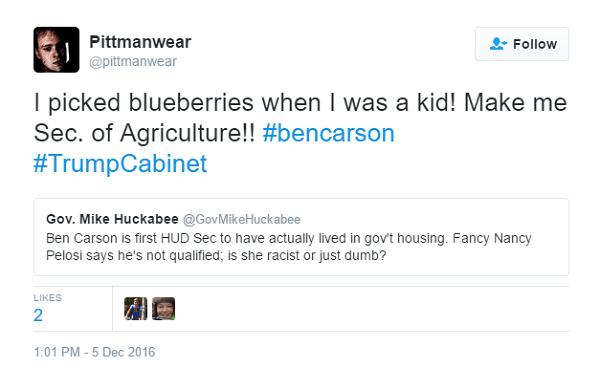 Secretary Of Agriculture America