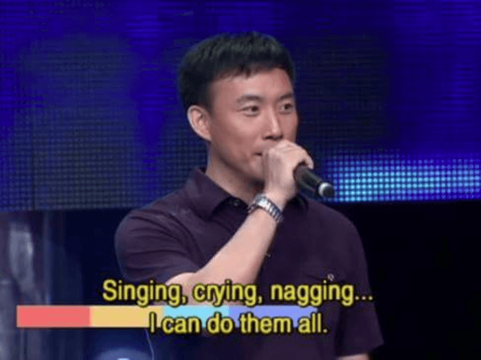 Singing Crying Nagging