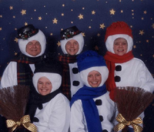 Snowman Family Potrait