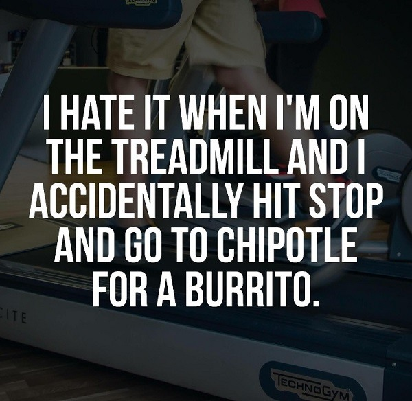 Treadmill Chipotle Burrito