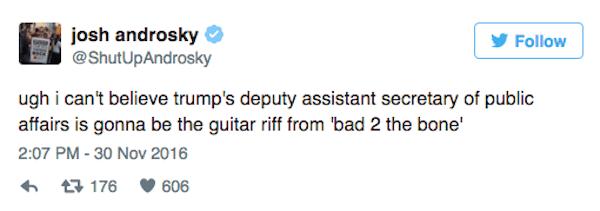 Trump Cabinet Tweets