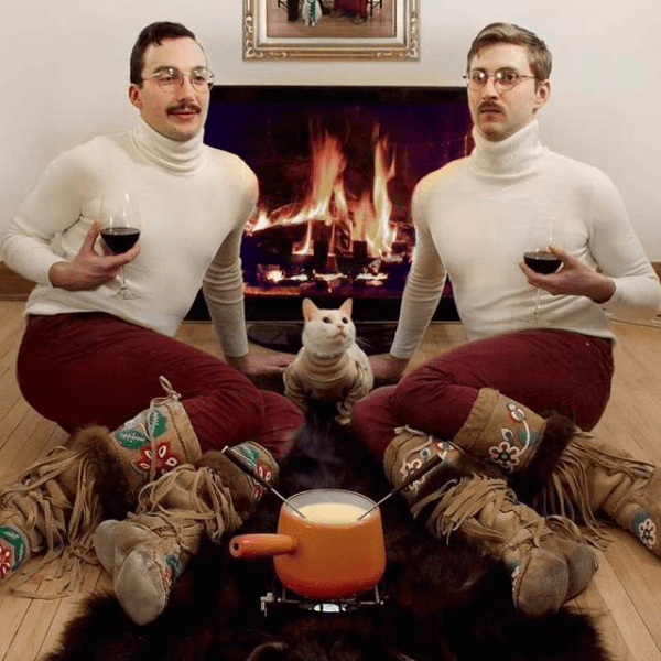 Two Guys By The Fire