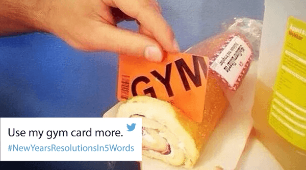 Use Gym Card Funniest New Year's Resolutions