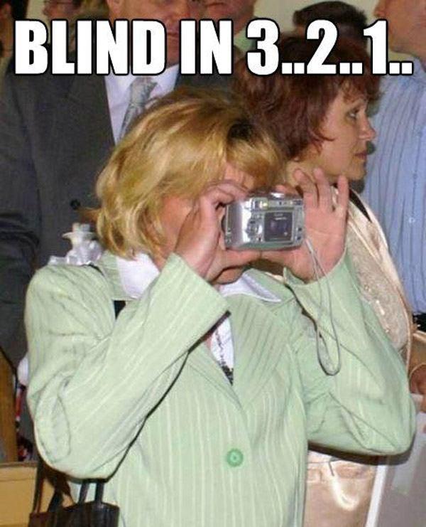Woman Camera Wrong Way