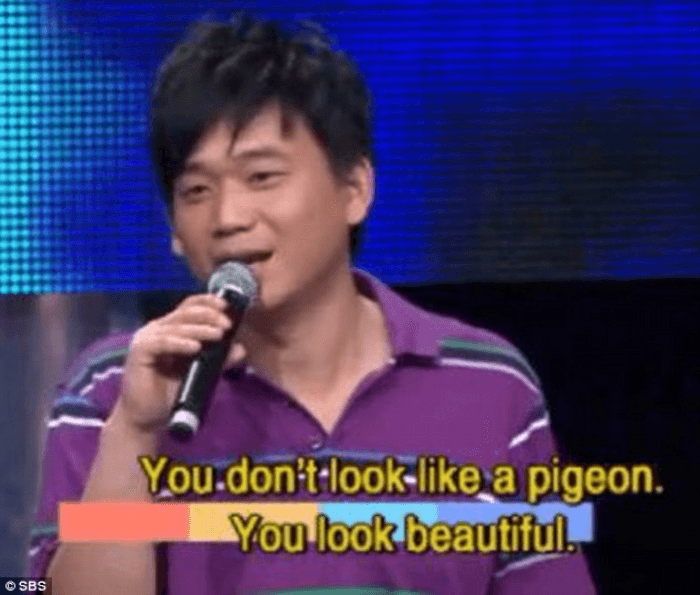 You Look Like A Pigeon