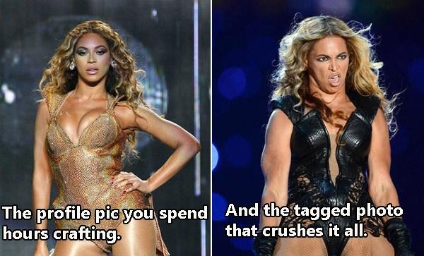 Beyonce Profile Vs Tagged Photo