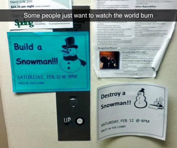 Build Destroy Snowman