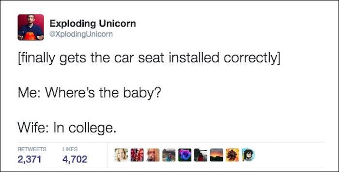 Car Seat Funny Parenting Tweets