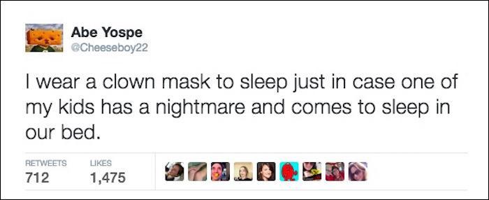 Clown Mask Tweet