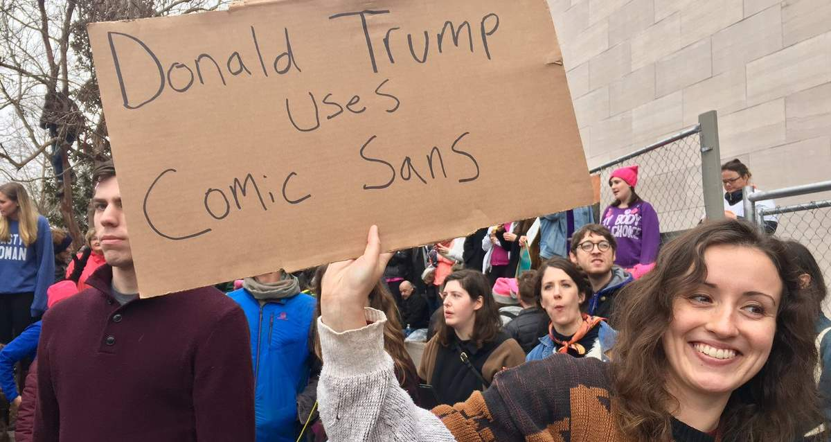 Donald Trump Uses Comic Sans