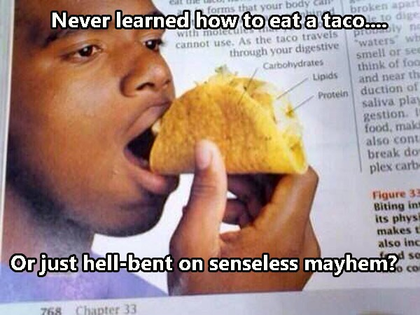 Eating Taco Wrong