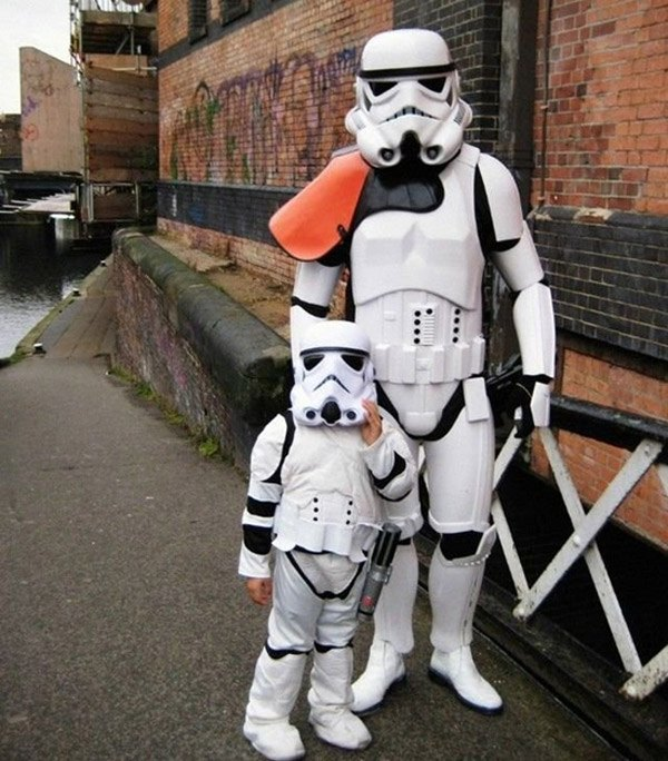 Father Son Stormtrooper