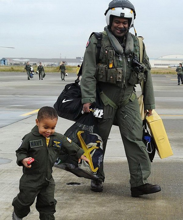 Father Son Top Gun
