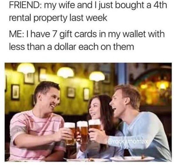 Gift Cards Broke