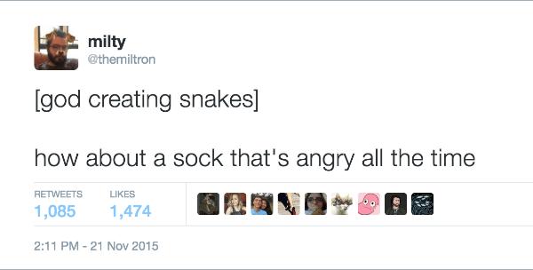 God Creating Snakes