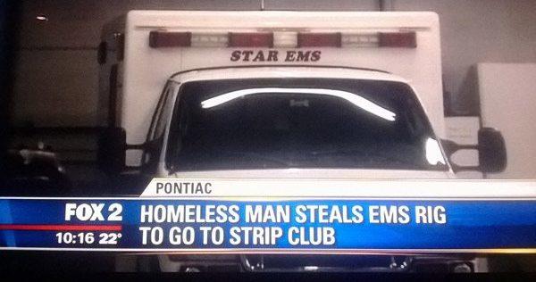 Homeless Man Strip Club