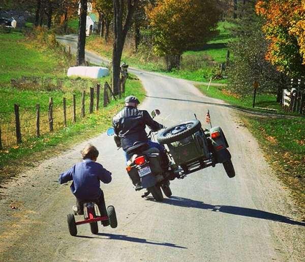 Like Father Like Son Bike Tricks