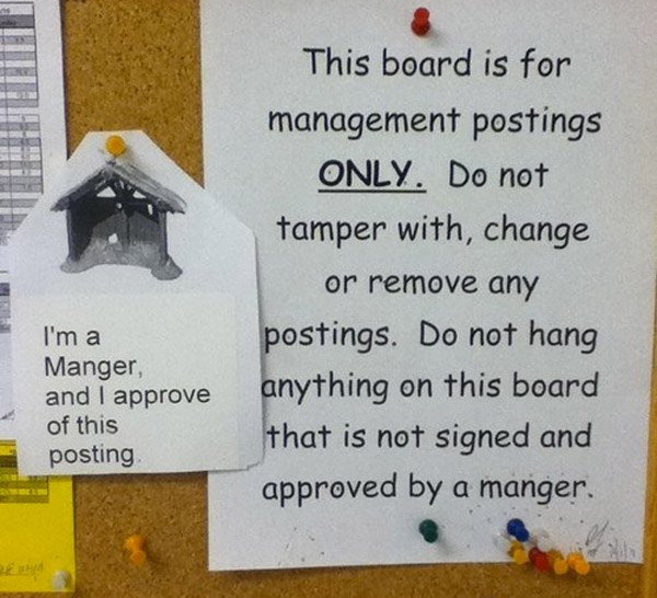 Manger Approved