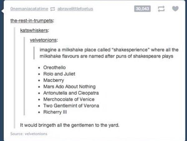 Milkshake Shakespeare