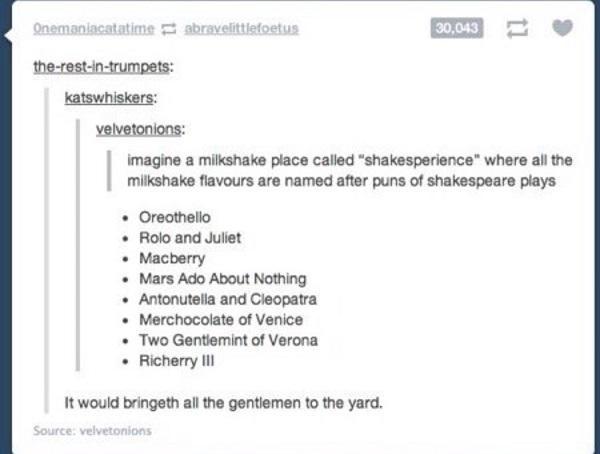 Milkshake Shakespeare