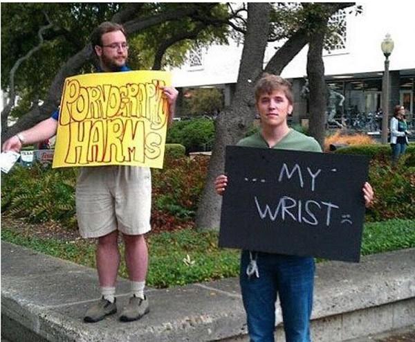 Porn Protest Smartass