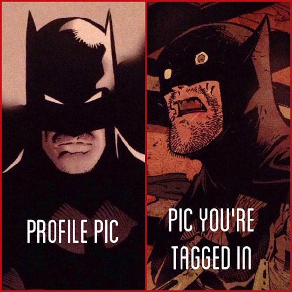 Profile Photo Vs Tagged Pic Batman