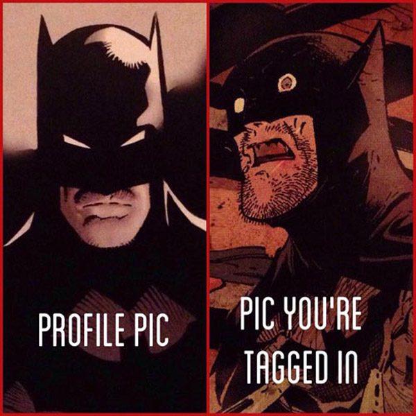 Profile Photo Vs Tagged Pic Batman