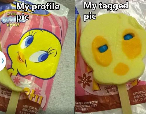 Profile Photo Vs Tagged Pic Popsicle
