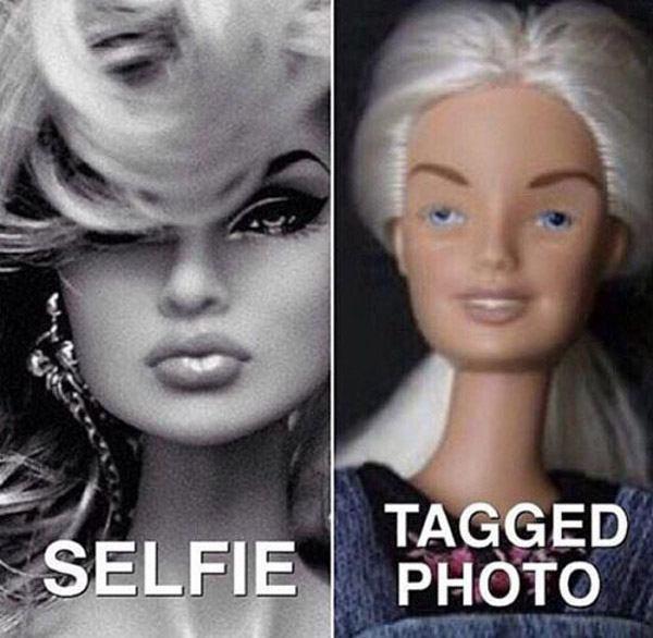 Profile Vs Tagged Pics Barbie