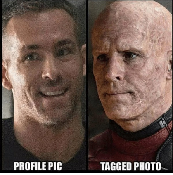 Ryan Reynolds Profile Pic Vs Tagged