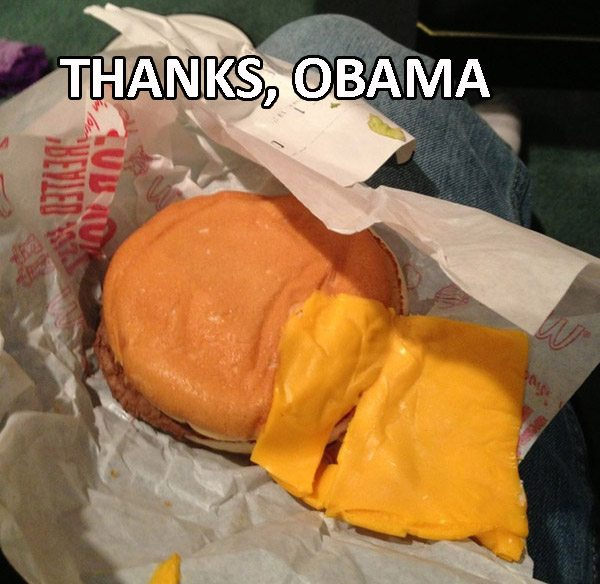 Thanks Obama Cheeseburger